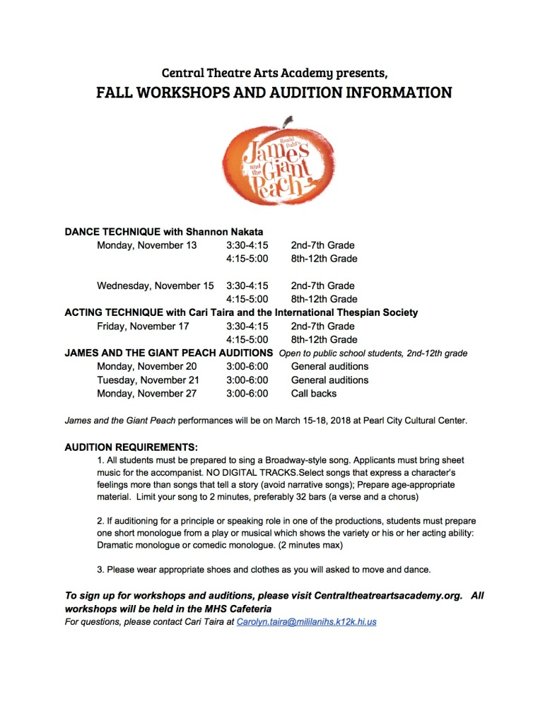 Fall Workshops and Audition info-2